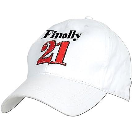 Amazon Finally 21 21st Birthday Hat Baseball Cap Sports Outdoors