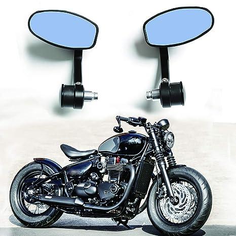 Amazon.com: 1 par de espejos retrovisores CNC para manillar ...