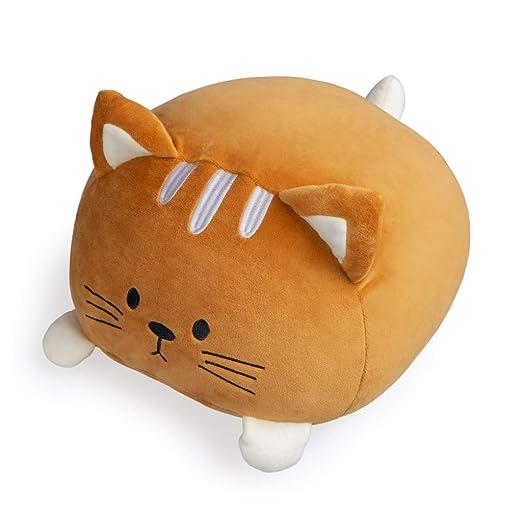 Balvi Cojín Kitty Color marrón Forma de Gato Suave y Muy Blando Poliéster