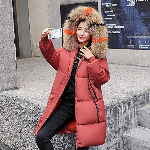 Ultraleggero Lunga Piumino Da Con Giacca Rustred Donna Soprabito Cappuccio Invernale Donna Lungo Slim gq5Yxd