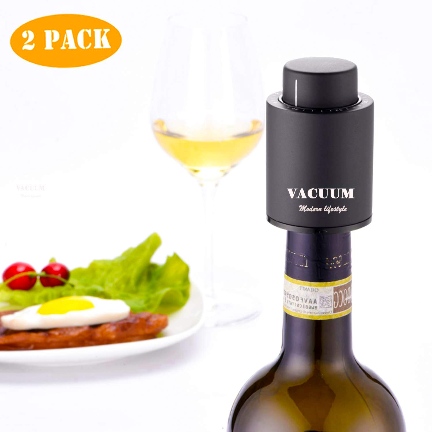Best Vacuum Sealer 2020 Amazon.com: [2 PACK]Wine Bottle Stoppers, Real Vacuum Champagne