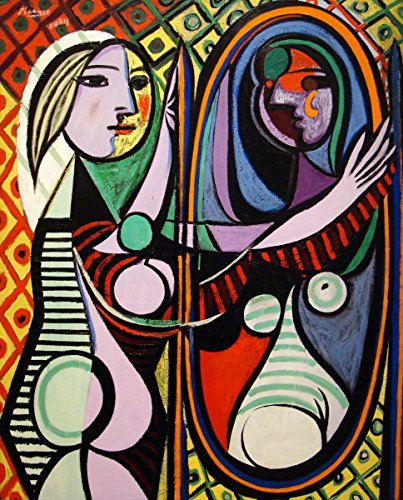 Pablo Picasso - Girl Before a Mirror, Canvas Art Print, Size 20x24, Canvas Print Rolled in a Tube