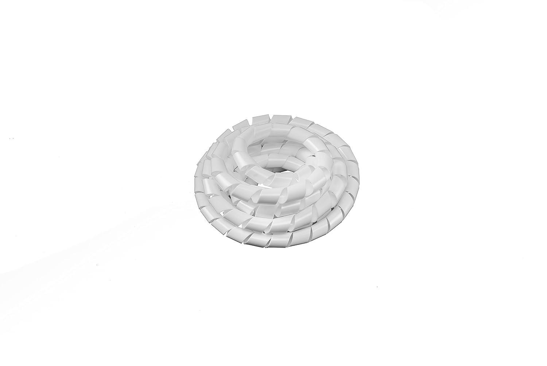 Colore: bianco diametro: 4-50 mm Tubo flessibile per fasci di cavi a spirale Tubo flessibile cavi a spirale Tubo a spirale per fasci di cavi Hicab lungo 2 m