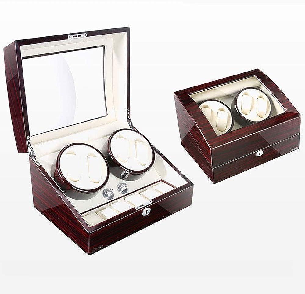 Caja Relojes Automaticos Caja de enrollador de Reloj automático con 4 Posiciones de enrollador 6 Espacios de Almacenamiento 4 Modos Shell de Madera (Color : C): Amazon.es: Relojes