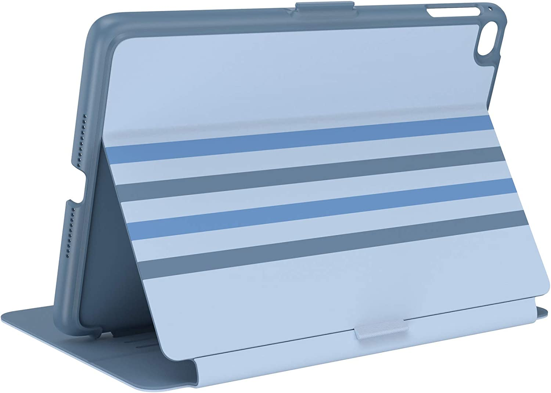 Speck Products Balance Folio iPad Mini 2021/iPad Mini 4/iPad Mini 5 Case and Stand, Waterfall Stripes/Sail Blue