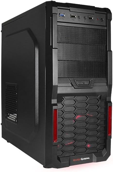 Mars Gaming MC3 - Caja de ordenador para gaming (diseñado para gamers, hasta 4 ventiladores, micro ATX), negro: Amazon.es: Informática