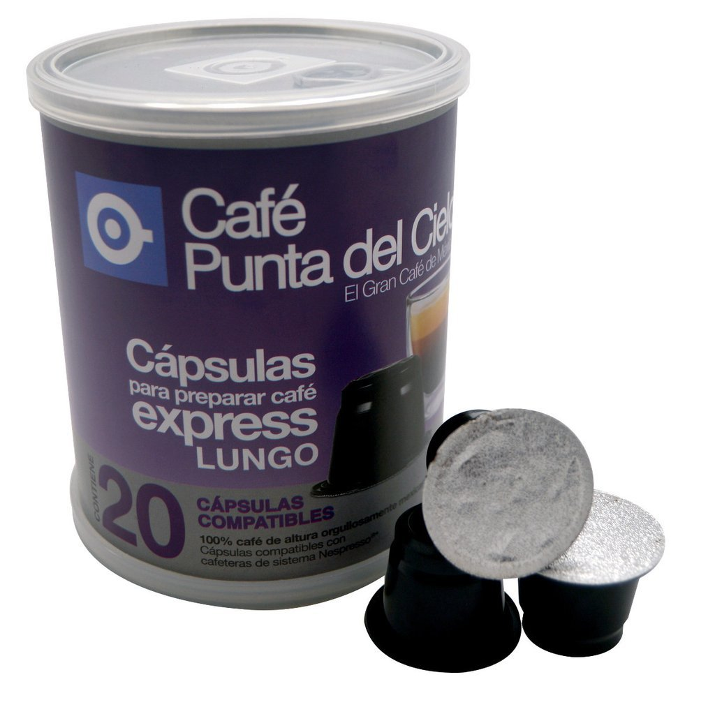 Amazon.com : Nespresso Lungo Espresso Capsules Can (Includes 20 Capsules) Cafe Punta del Cielo : Grocery & Gourmet Food