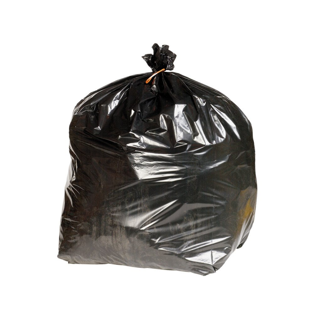 Q Connect KF73376 Heavy Duty Refuse Sack (Pack of 200) - Black VOW Europe