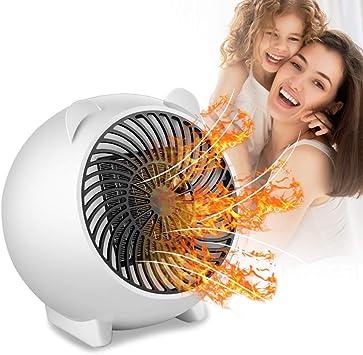 PINPOXE Calefactor Eléctrico, Mini Calefactor Ventilador, Cerámico Caliente Ventilador, Calenta...