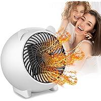 PINPOXE Calefactor Eléctrico, Mini Calefactor Ventilador, Cerámico Caliente Ventilador, Calentador de Portátil para…