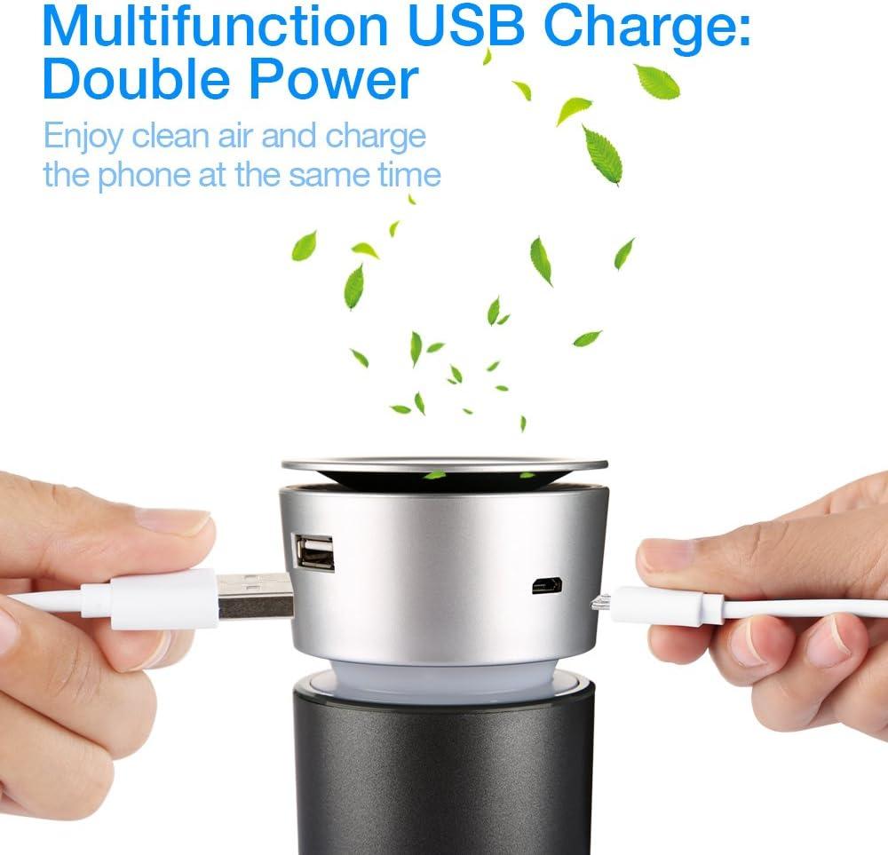 Houzetek - Purificador de aire para coche con cargador USB: Amazon ...