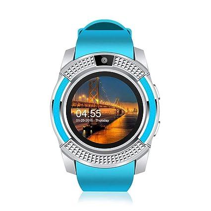 Teepao Smart Watch con cámara, V8 Smart Watch Bluetooth con cámara Pantalla táctil podómetro recordatorio
