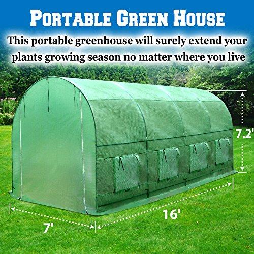 - BenefitUSA 16'x7'x7'H Walk In Greenhouse Outdoor Garden Plant Green House