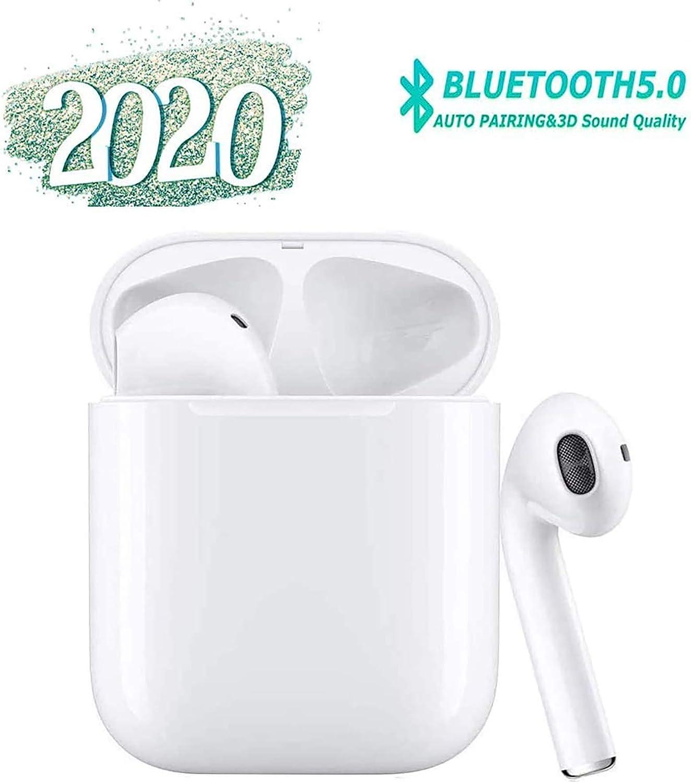 Auriculares Bluetooth 5.0, Auriculares internos inalámbricos, micrófono Incorporado y Caja de Carga, reducción de Ruido estéreo 3D HD, adecuados para Auriculares Apple/Airpods/Android/iPhone