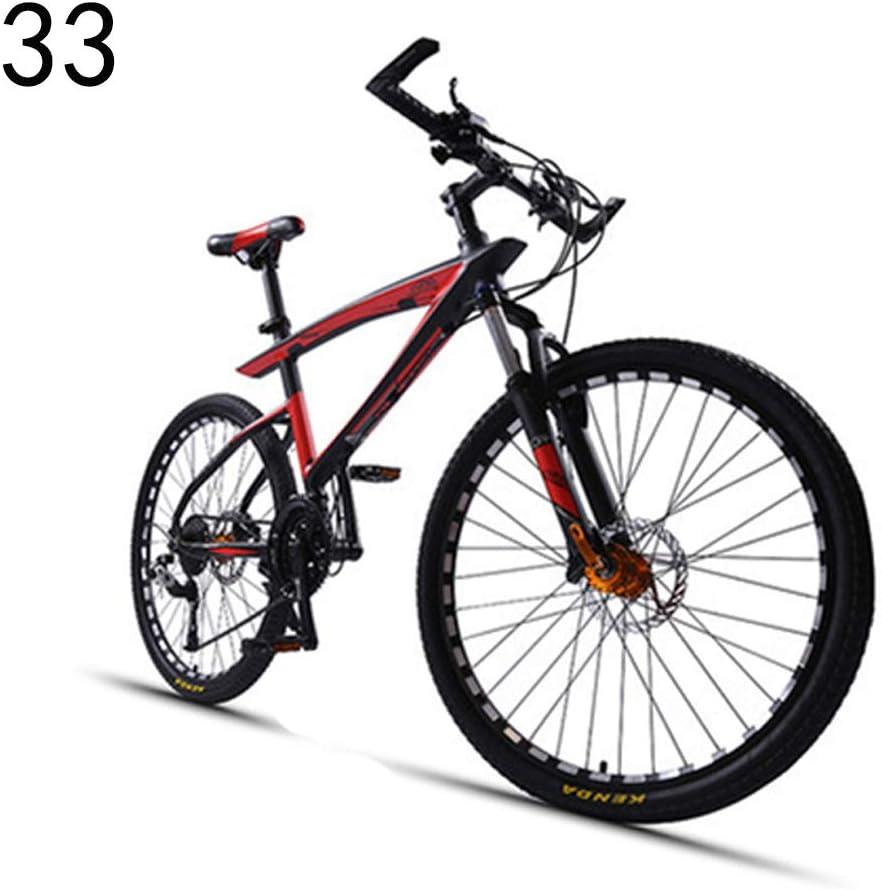 ダブルショック吸収ダウンヒルソフトテールクロスカントリーマウンテンバイク30/33スピードの学生超軽量シフト自転車男性大人 赤 Large