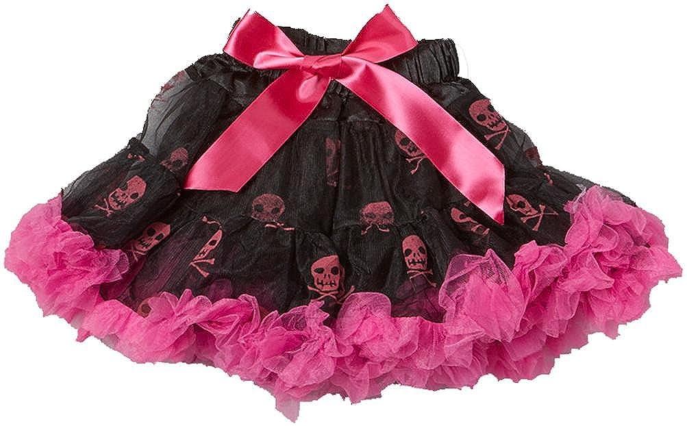 wenchoice Black /& Hot Pink Skull Pettiskirt Girls