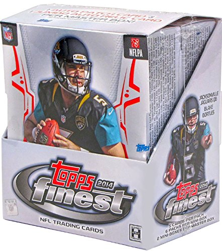 2014 Topps Finest NFL Football Hobby Box Trading Cards - 12 packs of 5 cards each (Pack Trading 12 Cards)
