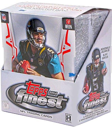2014 Topps Finest NFL Football Hobby Box Trading Cards - 12 packs of 5 cards each (Trading Cards Pack 12)