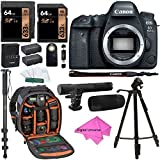 Canon EOS 6D Mark II Digital SLR Camera Body, Lexar 64GB, DigitalUniverse Gear Photo Camera Backpack, Tripod, Battery, DigitalUniverse Cleaning Kit + Accessory Bundle