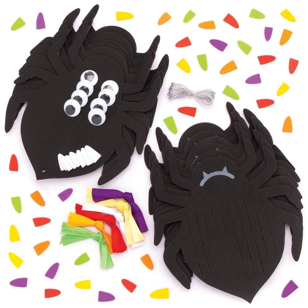 Gruselige Bastelhandwerk f/ür Halloween Packung mit 6 Baker Ross Bastelsets Spinne zum Weben