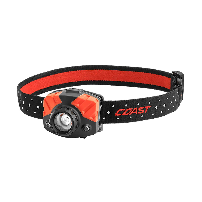 COAST FL75 435 Lumen Dual Color Focusing LED Headlamp, Black by Coast