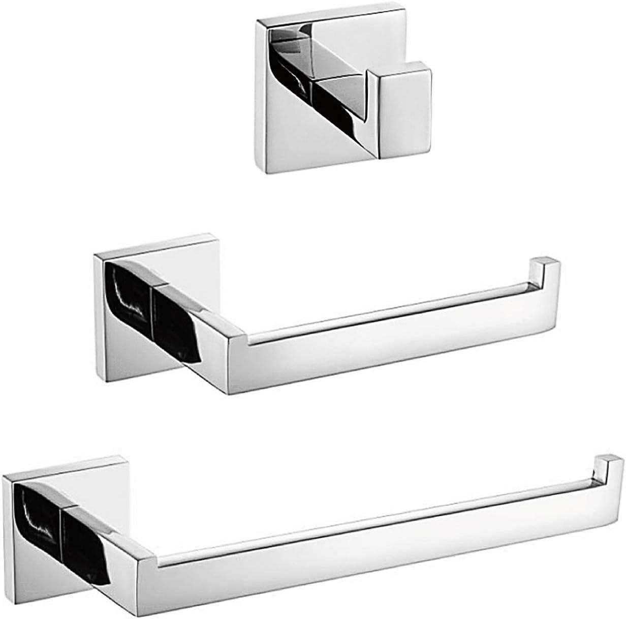 negro mate A7010B Turs 3 piezas de ba/ño accesorio conjunto sus 304 inoxidable acero inodoro soporte de papel toalla bar//soporte albornoz gancho de pared