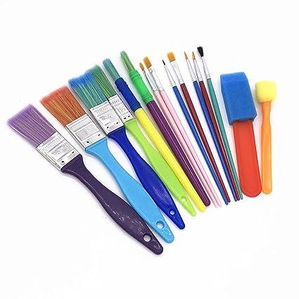 Wenosda Cepillo de dibujo de pintura, pluma de arte de la escuela, tamaño/