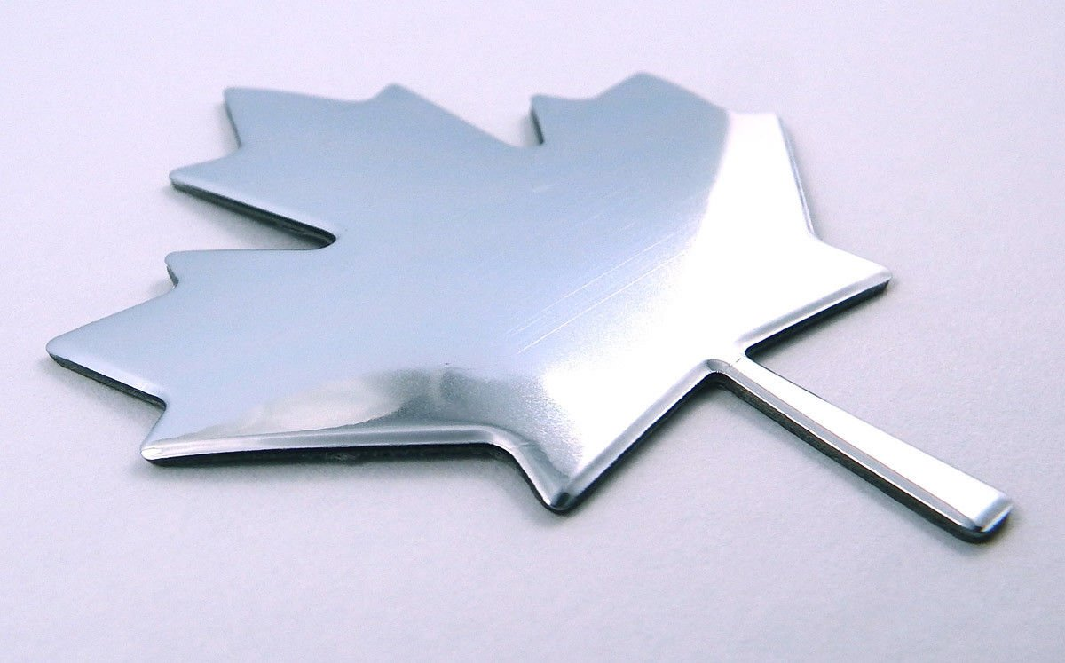 Maple Leaf Canada Chrome Finish Decal Emblem 3D Sticker car Bike 2.7 Flexible