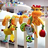 Baby Grow Jollybaby Baby Car Bed Hanging Around Spiral Giraffe Discovery Activity Spiral Toy 0M+(Giraffe & Elephant)
