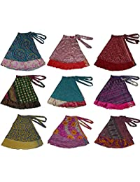 Women's Plus Size Sari Magic Skirt, One Size, Assorted