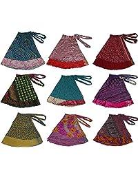 Wevez Women's Plus Size Sari Magic Skirt, One Size, Assorted