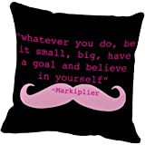 "Markiplier quote Cushion Pillow Case 18""x18"""
