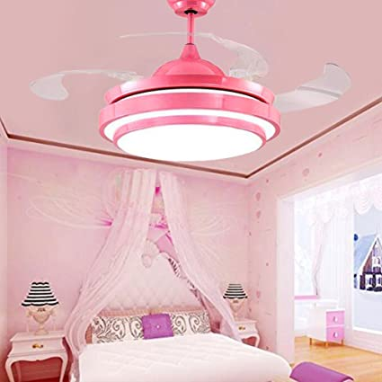 TiptonLight Ceiling Fans with Remote Control Modern Retractable 4 ...