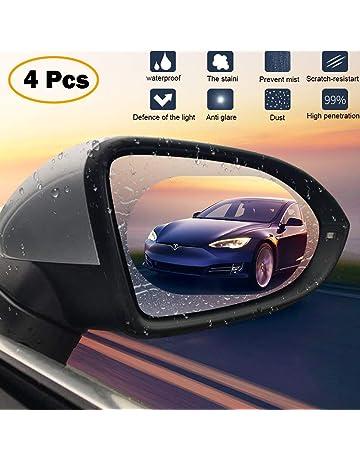Lámina protectora para espejo retrovisor de coche, 2 unidades, impermeable, antivaho, antirreflejos