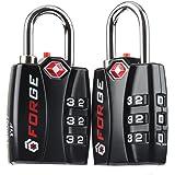 Forge TSA Locks 2 Pack - Open Alert Indicator, Alloy Body with Lifetime Warranty