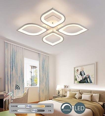 Camere Da Letto Moderne Con Led.Kbest Plafoniere Moderno Led Lampada Da Soffitto Dimmerabile