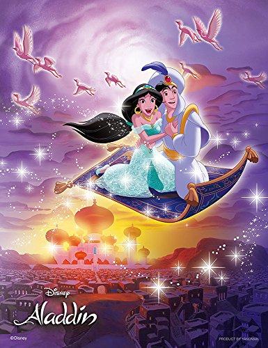 Disney Japan Official Licensed Limited Jigsaw Puzzle Petite 2 Light - Aladdin Jasmin Flying Carpet Trip Around the World Sekai wo Meguru Tabi 300 pcs Pieces (Aladdin Jasmin)