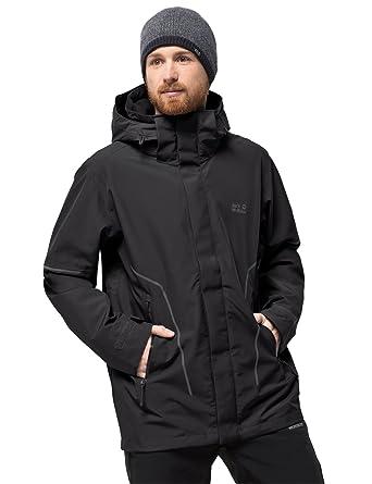 8fcf423bb97bcf Jack Wolfskin Men's Taiga Zip System Regular Trail Jkt M Hiking Jacket  Waterproof Windproof Breathable Weatherproof
