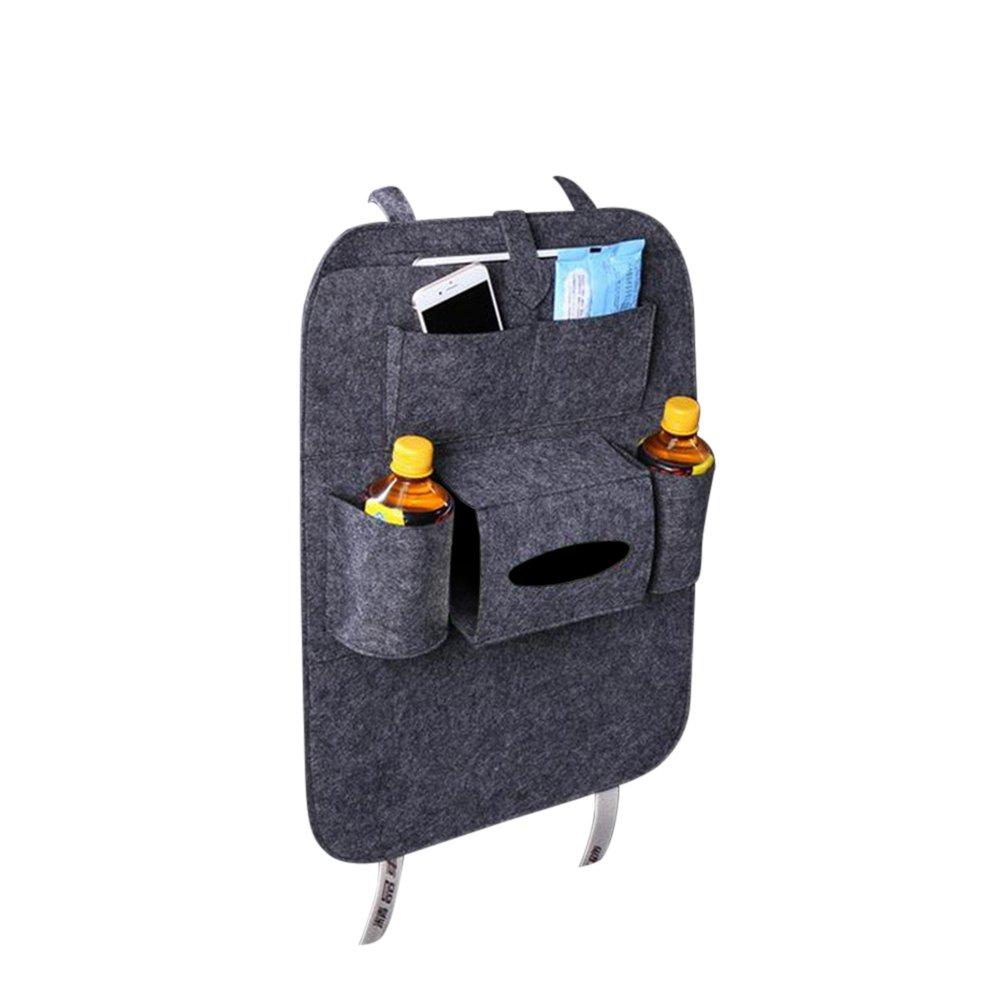 VORCOOL Car Seat Back Organizer 6-Pocket Kinder Spielzeug f/ür iPad Tissue Box Pen Dunkelgrau