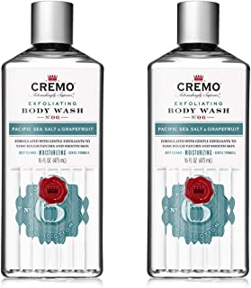 product image for Cremo Exfoliating Pacific Sea Salt & Grapefruit Body Wash, A Refreshing Scent with Notes of Fresh Mint, Citron, Cedar and Moss, Exfoliating Pacific Sea Salt/Grapefruit, 32 Fl.Oz, (Pack of 2)