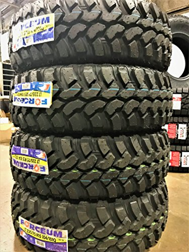Set of 4 (FOUR) Forceum M/T 08 Mud Tires - LT235/75R15 104/101Q C (6 Ply) (Best Light Truck Snow Tires)