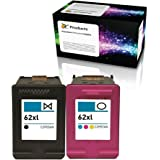 OCProducts Remanufactured Ink Cartridge Replacement for HP 62XL for HP Officejet 5742 5740 8040 Envy 5540 5640 5660 7640 Prin