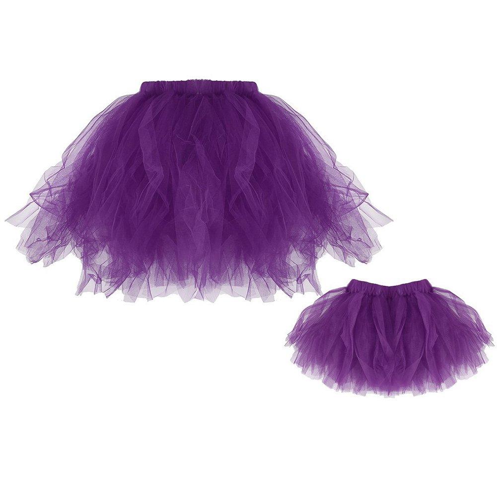 Per Faldas de hilado neto para beb/és Faldas para madre e hija Ropa del Mameluco Ropa de Escalada Faldas de tutu para Ni/ñas