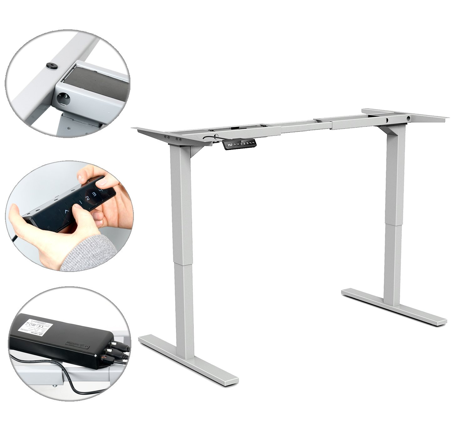 Awesome Yaekoo Height Adjustable Electric Standing Desk Frame Only Download Free Architecture Designs Scobabritishbridgeorg