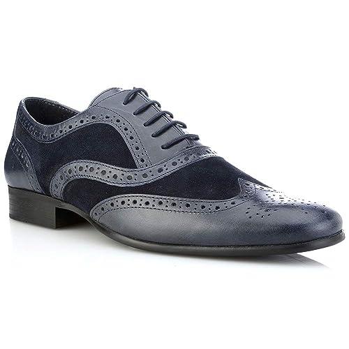 Red Tape - Zapatos de cordones para hombre, color azul, talla 12 UK