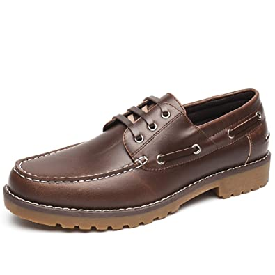 Brown Deck Boat Shoes For Men Men S Marine Shoes With Slip