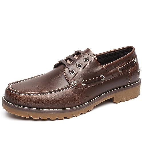 b2b6db74 Zapatos Nauticos Barco Marrones para Hombres - Mocasines Cómodos Hombre,  Adecuado para El Trabajo y