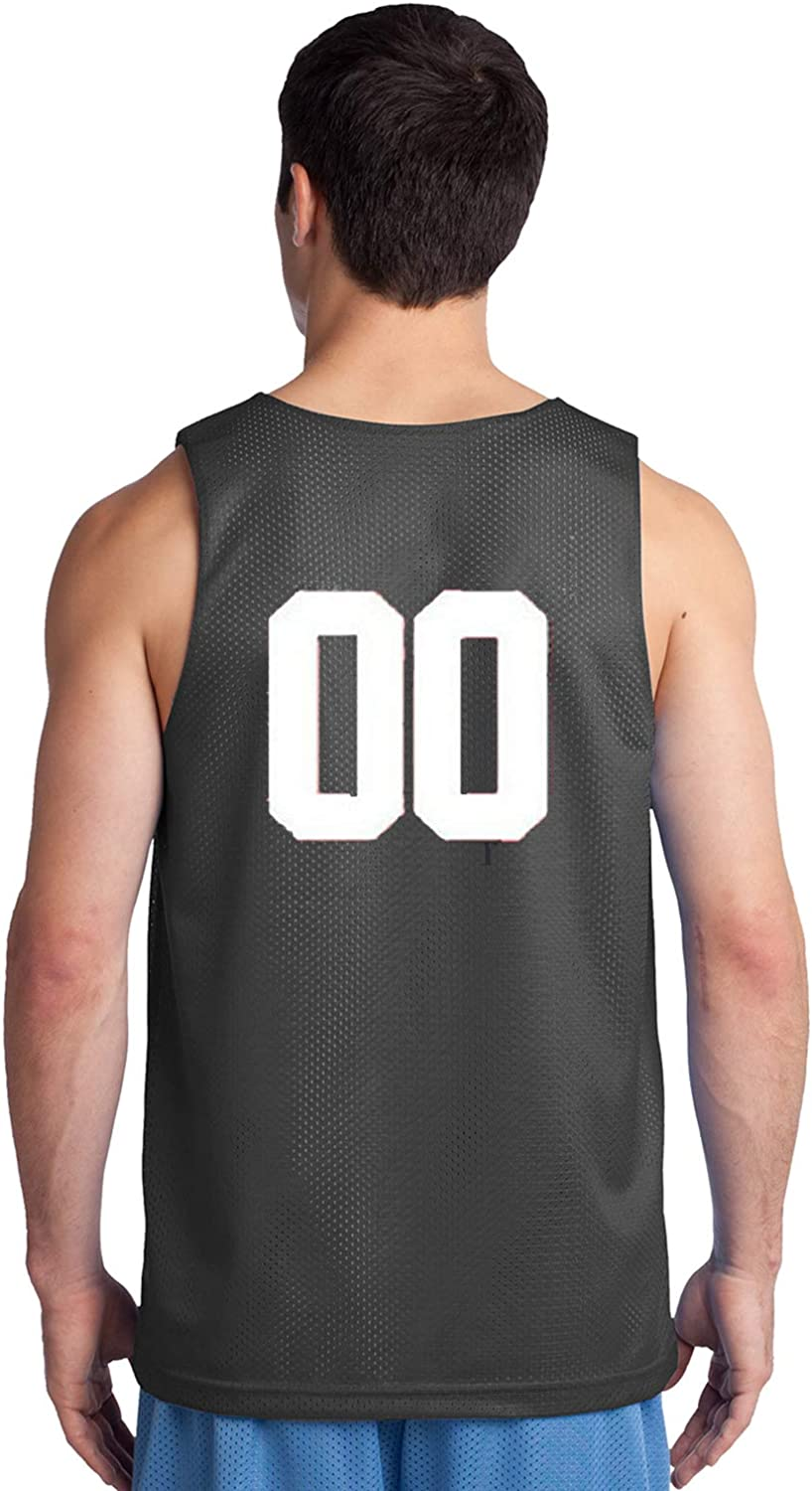 Custom Basketball Reversible Jersey Numbers Only On Back of Both Sides