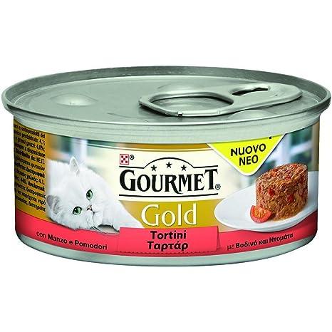 PURINA Gourmet Gold empanadas de carne de tomate Gr. 85 Húmedo ...