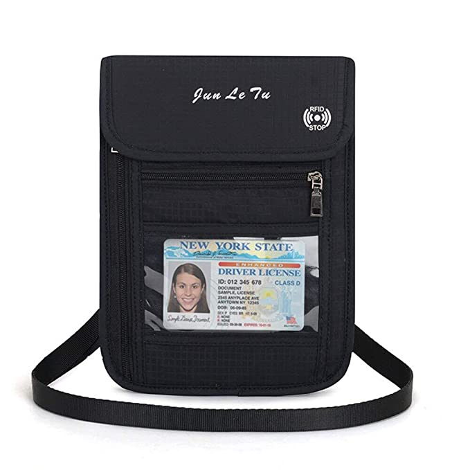 dc69fd68fcbe Amazon.com: Ksone Neck Hanging Travel Passport Cover Wallet ID ...